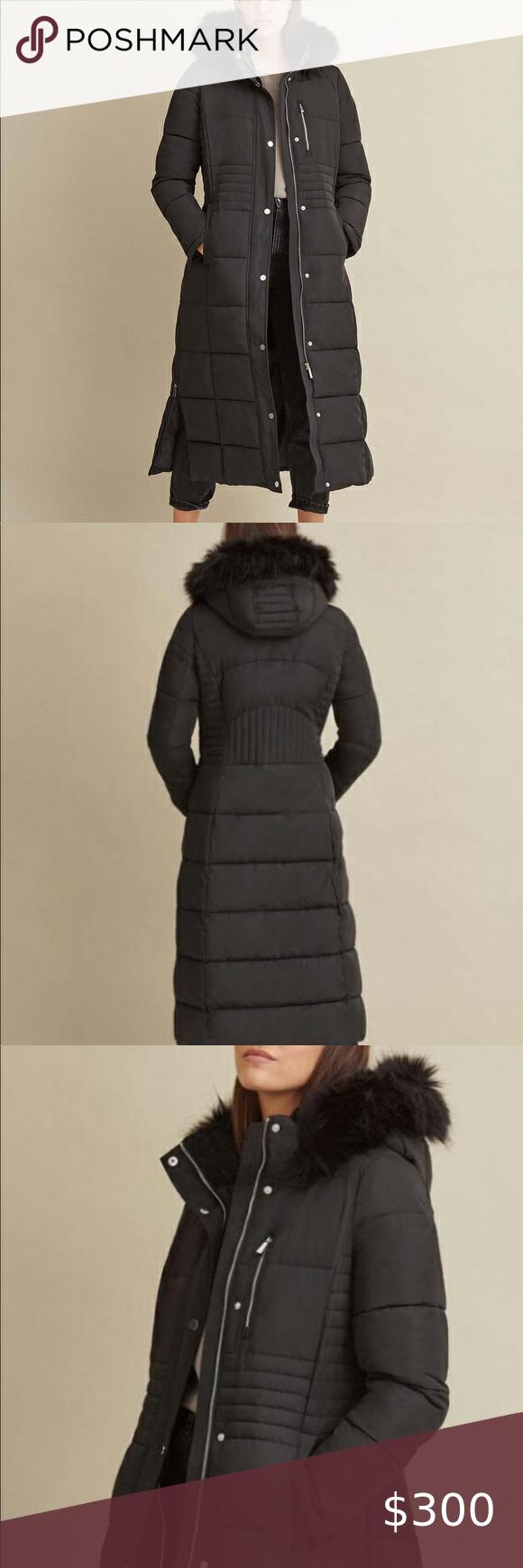 Faux Fur Trim Maxi Puffer Fashion Womens Winter Puffer Coats Coats Jackets Women [ 1740 x 580 Pixel ]