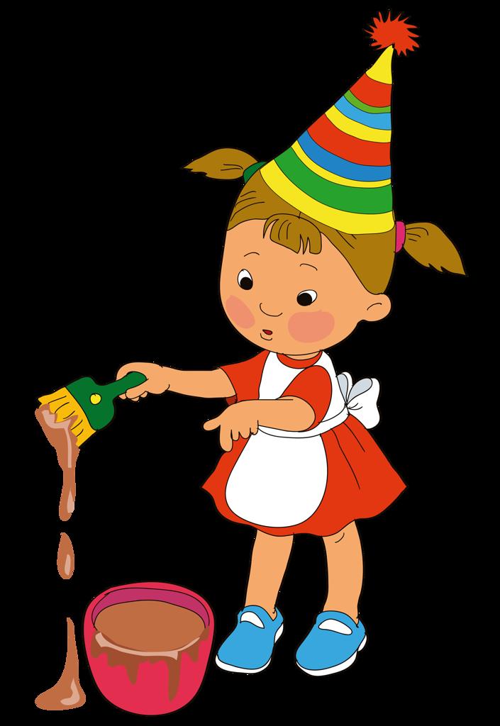 Ребенок с кисточкой картинка