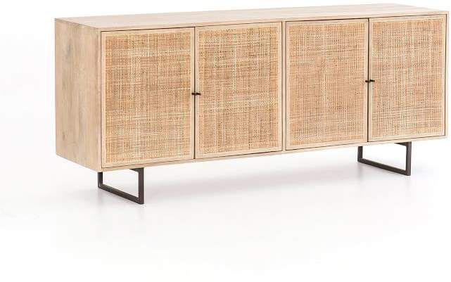 Dolores 72 Cane Console Table Furniture Wood Rattan Home Furniture