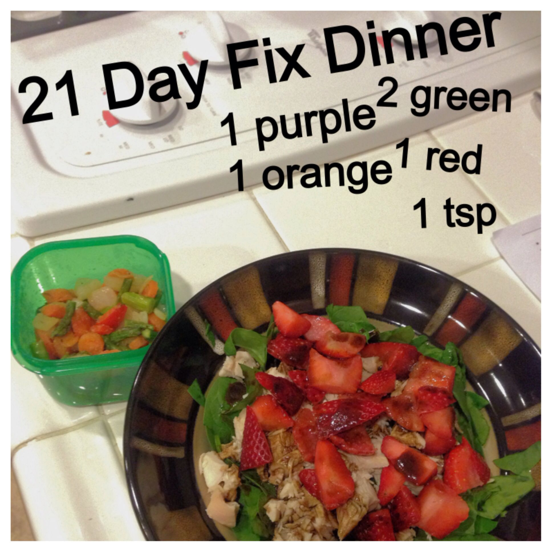 My 21 Day Fix Dinner Mixed Veggie Stir-Fry Recipe -5113