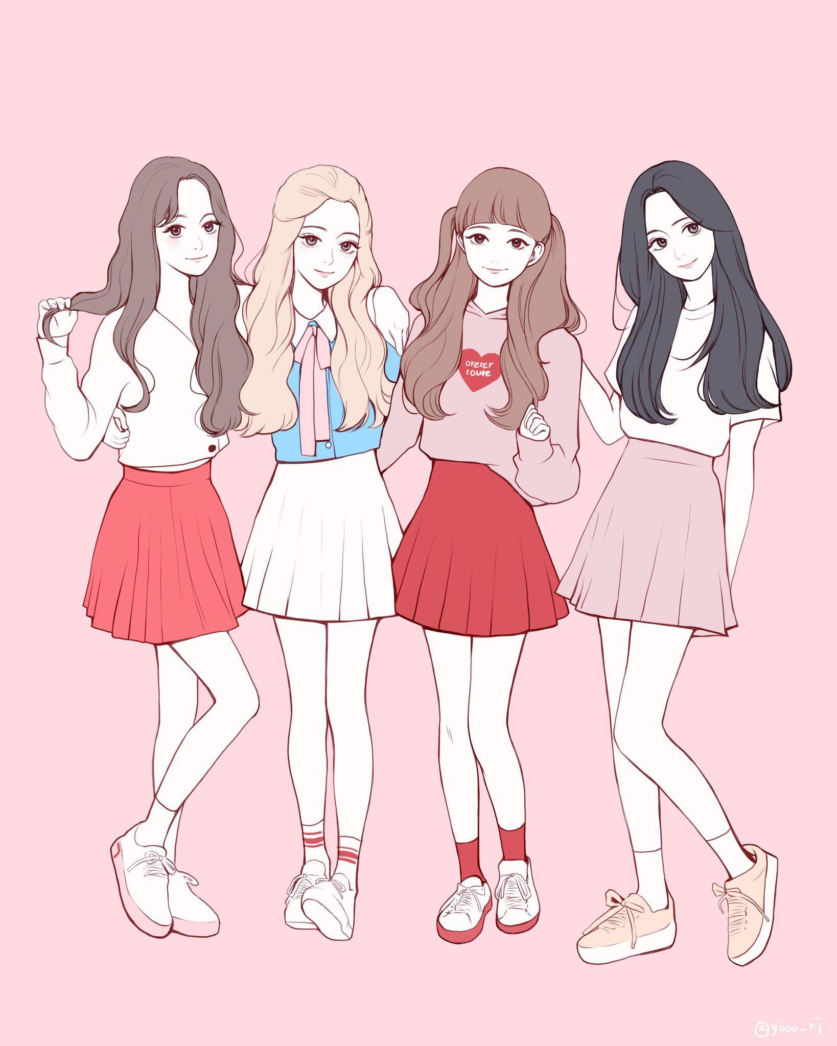 Yori On Twitter Girls Cartoon Art Friend Anime Anime Best Friends