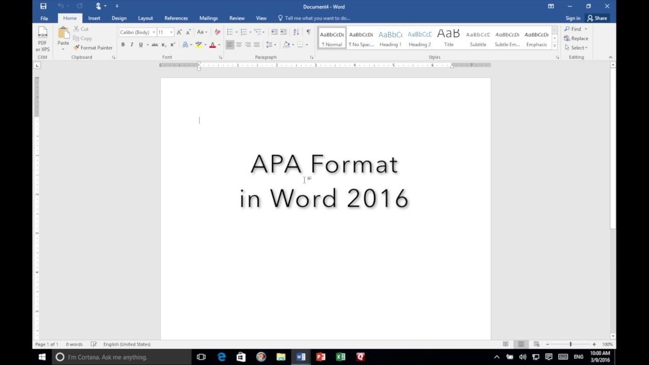 apa format in word 2016 my news interests pinterest apa style