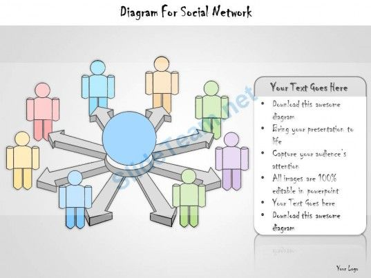 1113 Business Ppt Diagram Diagram For Social Network Powerpoint