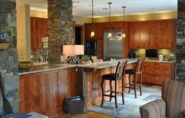 Rustic Alder Kitchen - traditional - kitchen - minneapolis - Schmitt Custom Furniture