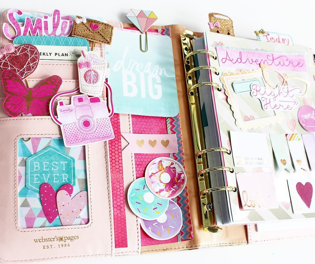 Begun setting up my @websterspages Color Crush A5 planner from ...