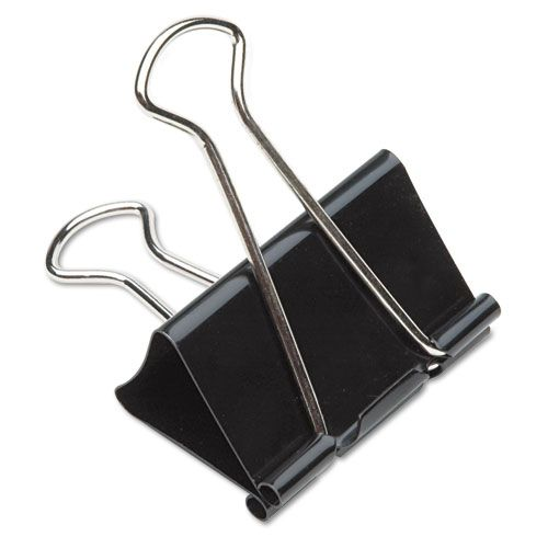 Staples Binder Clips Home Office Paper Supplies Assorted Sizes Metal Black New