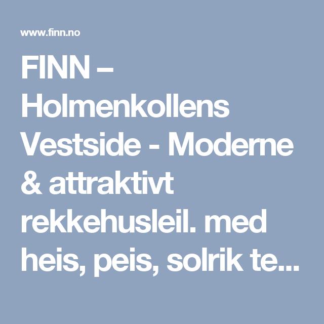 FINN – Holmenkollens Vestside - Moderne & attraktivt rekkehusleil. med heis, peis, solrik terr., panoramautsikt & garasje!