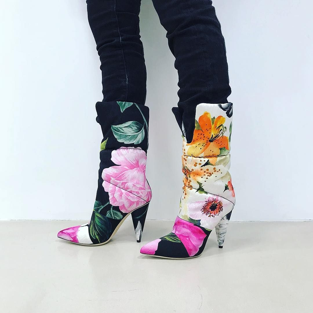 Boots, Floral boots, Jimmy choo