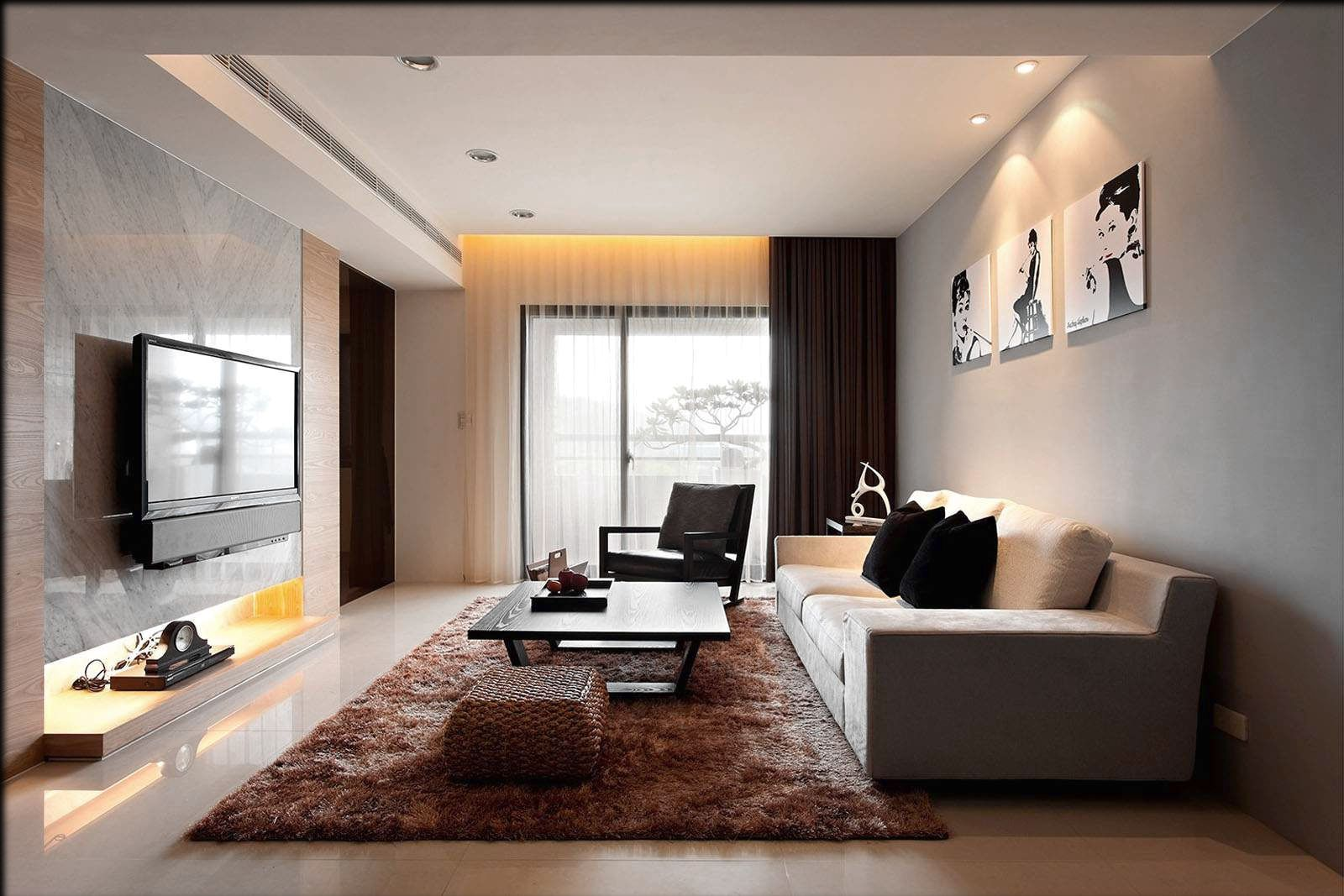Simple Living Room Interior Design Ideas Wall Mounted Lights For Small House In India Conception De La