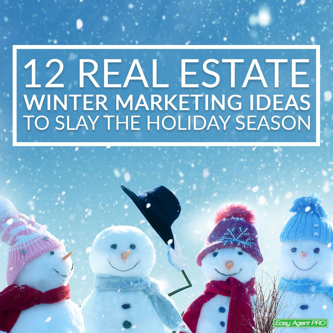 Need some fresh real estate winter marketing ideas to slay this holiday season? Here are 12 you can start getting ready right now! #RealEstate #LeadCapture #LeadGeneration #LeadGen #Leads #RealEstateTexas #RealEstateAgent #RealEstateMarketing #RealEstateMiami #RealEstateFlorida #realestatecalifornia #RealEstateWashington #RealEstateNewYork #Remax #Century21 #Realtors #Realtor #Broker #Agent #OpenHouse #SmallBiz #SmallBusiness #Marketing #RealEstateTips #RealEstateAdvice