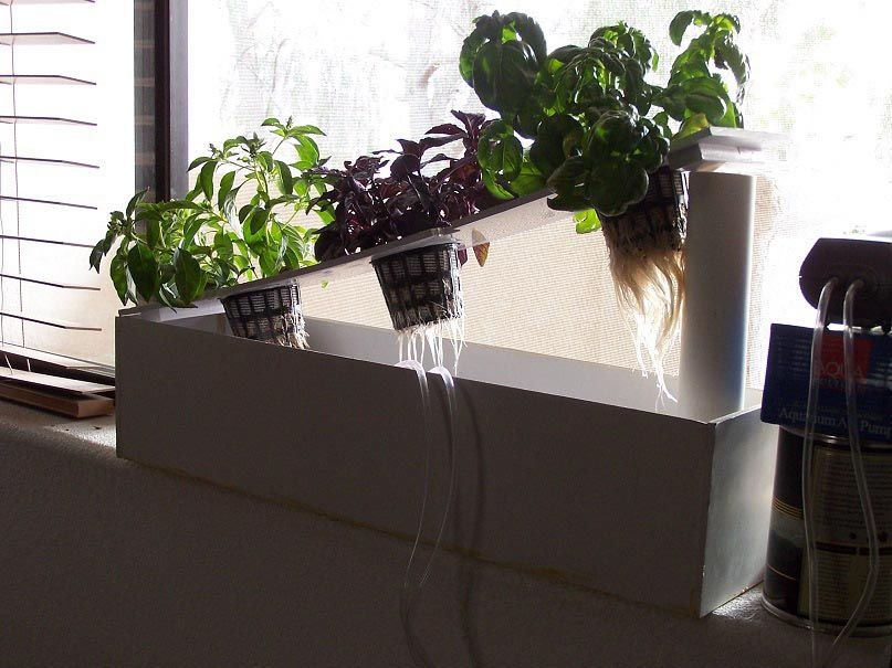 Windowsill Herb Garden Diy Window Herb Garden Diy Herb Garden Hydroponics