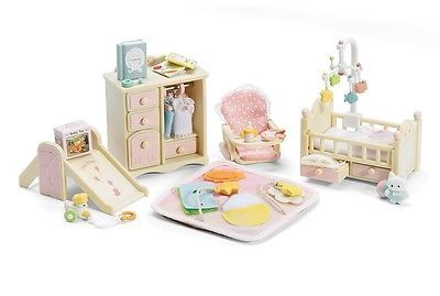 New original baby furniture set calico critters Sylvanian Families strollerchair