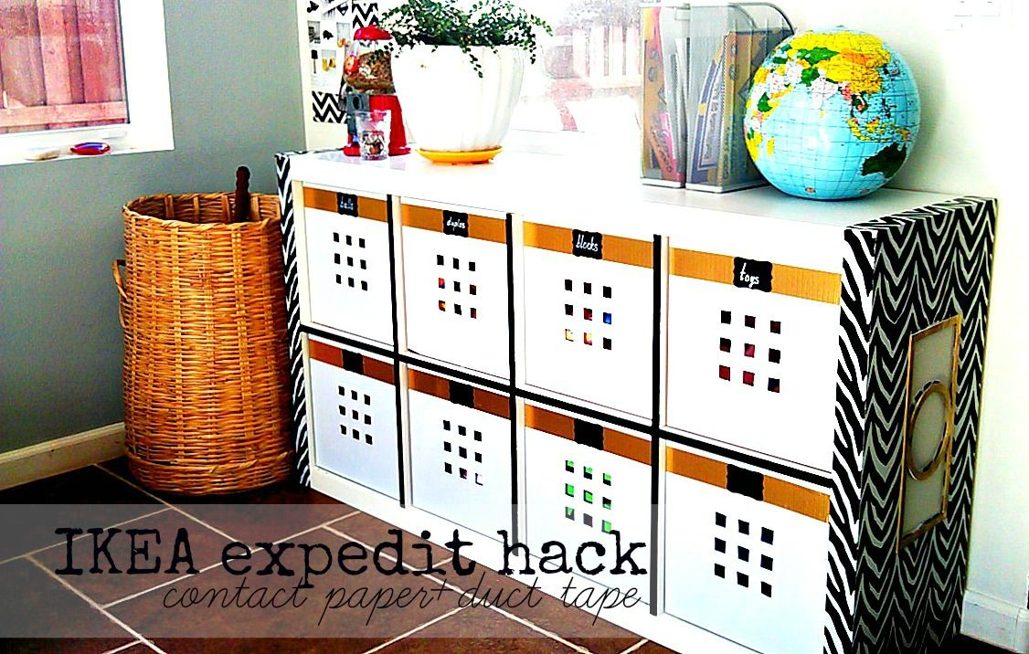 furniture contact paper. Ikea Expedit Makeover With Duck Tape And White Contact Paper Furniture T