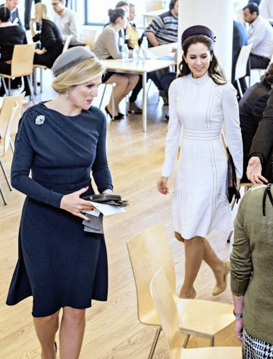 Queen Maxima of the Netherlands and Crown Princess Mary of Denmark on day 1 of state visit to Denmark, March 17, 2015.