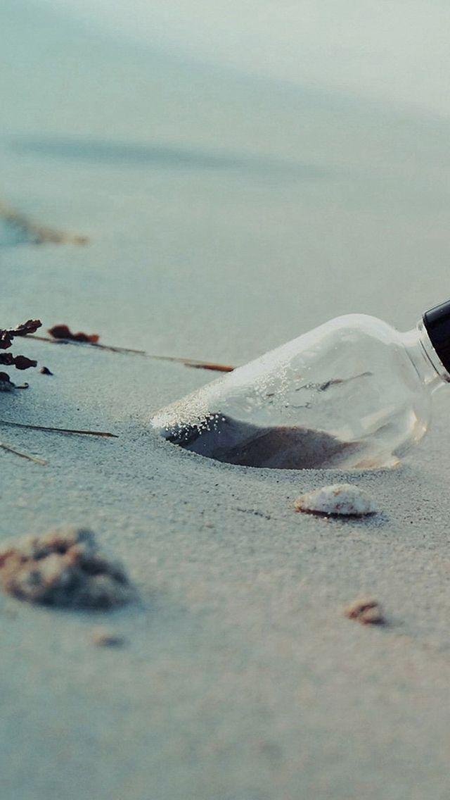 Pure Simple Beach Wish Bottle Landscape iPhone 5s