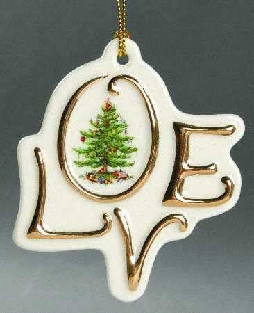 Spode Christmas Tree Ornament - Love *** Read more reviews of the
