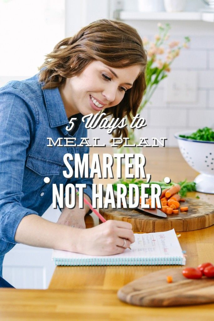 Love tip number 2! Five simple ways to save time, money, and brain power while creating a practical weekly meal plan.