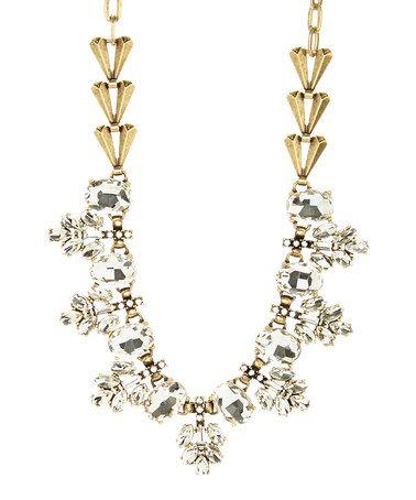 Another great find on #zulily! Rhinestone & Goldtone Spruce Necklace #zulilyfinds