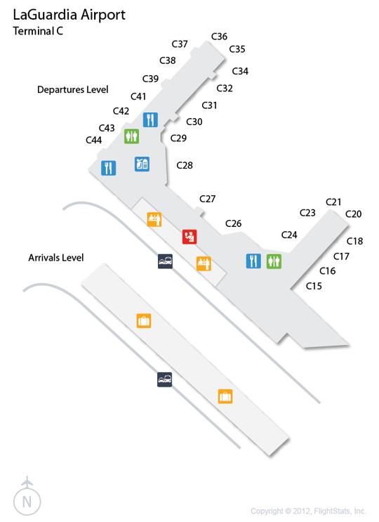 LGA LaGuardia Airport Terminal Map Airports Pinterest - Laguardia airport map