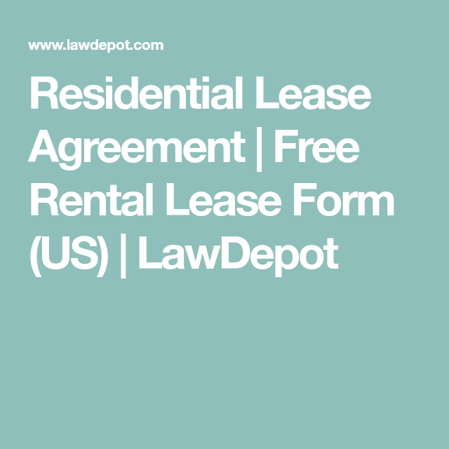 Residential Lease Agreement  Free Rental Lease Form Us