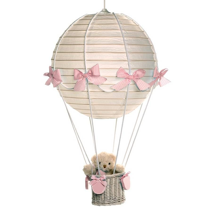 Hot air balloon lampshade with teddy bear girly hot air balloons bear in lantern balloon aloadofball Images