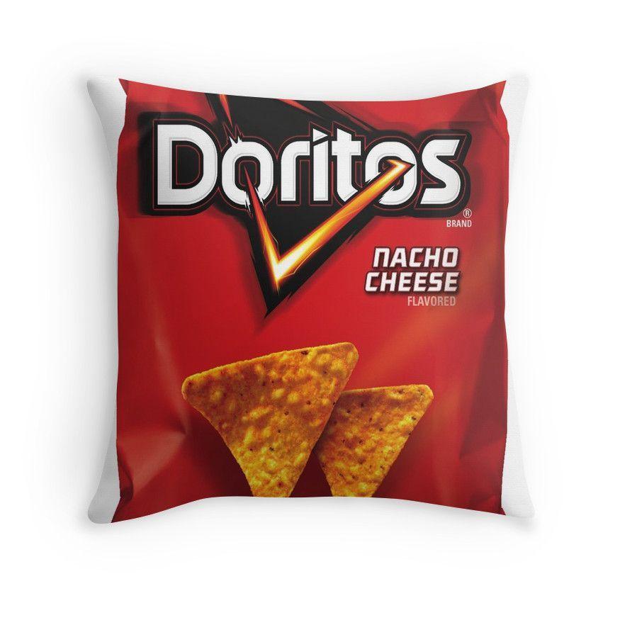 Doritos Art Throw Pillows Doritos Nachos Nacho Cheese Chip Nacho Cheese