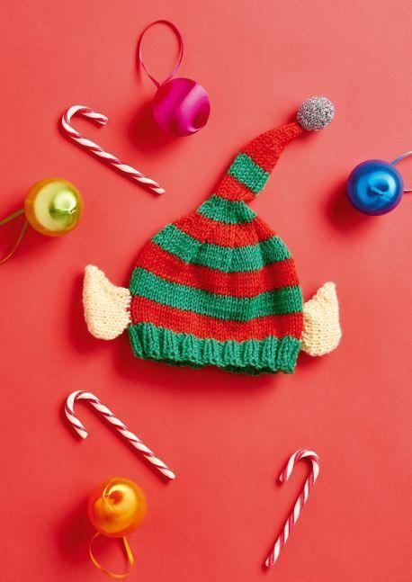 Elf Hat For Kids Free Christmas Knitting Pattern Kitchen