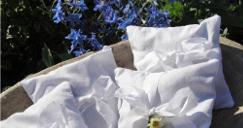CUIDADOS  Faça pequenas almofadas para colocar por baixo da fronha convencional e use apenas por uma ou duas horas . Não é recomendável dor...