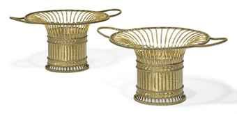 A PAIR OF GEORGE III SILVER-GILT BASKETS MARK OF PAUL STORR, LONDON, 1803 Price Realised GBP 49,250 USD 78,603