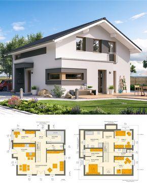 Modernes satteldach haus mit galerie einfamilienhaus for Hauser plane einfamilienhaus