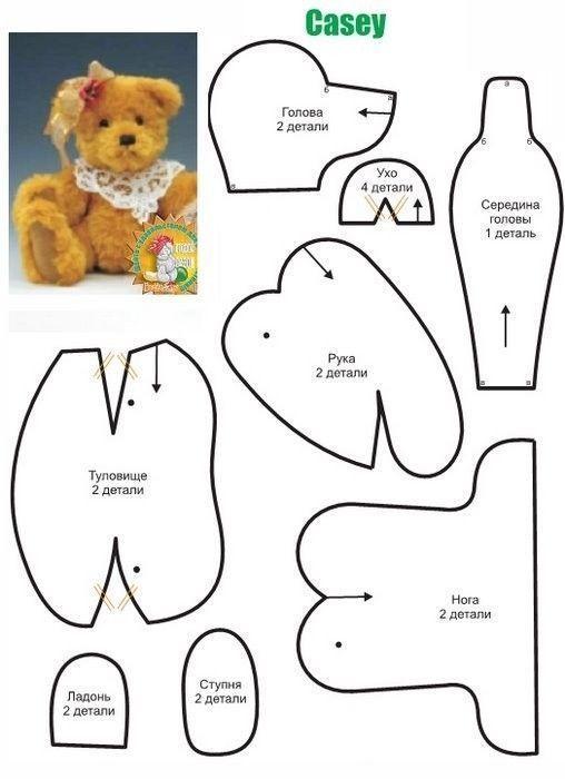 Patrones de osos de peluche | Moldes y fieltro | Pinterest | Osos ...