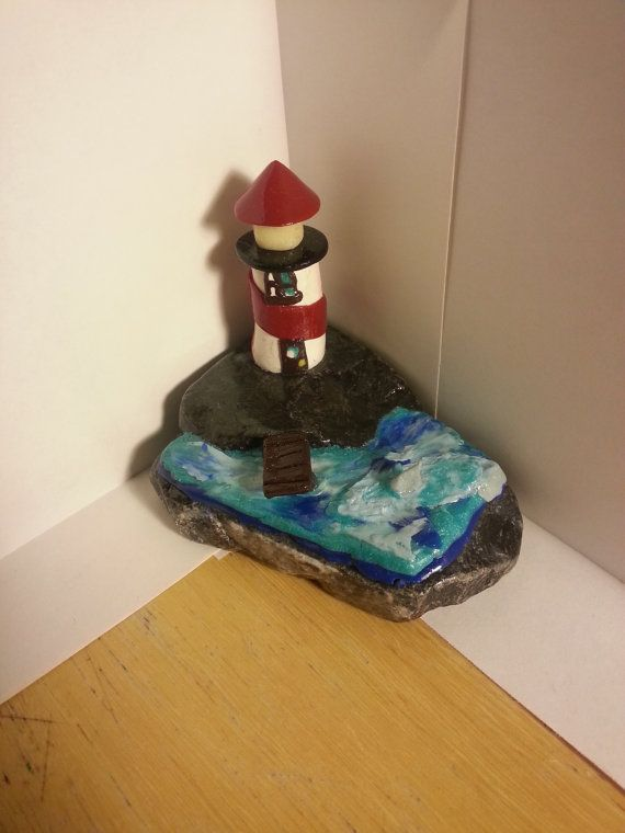 Check out this item in my Etsy shop https://www.etsy.com/listing/473304633/polymer-clay-lighthouse-scenery