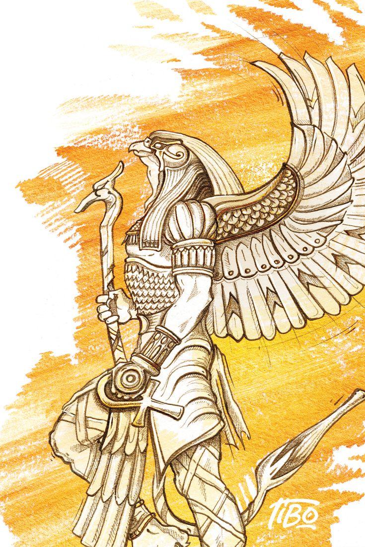 Illustration Horus | Tatouage égyptien, Tatouage horus ...