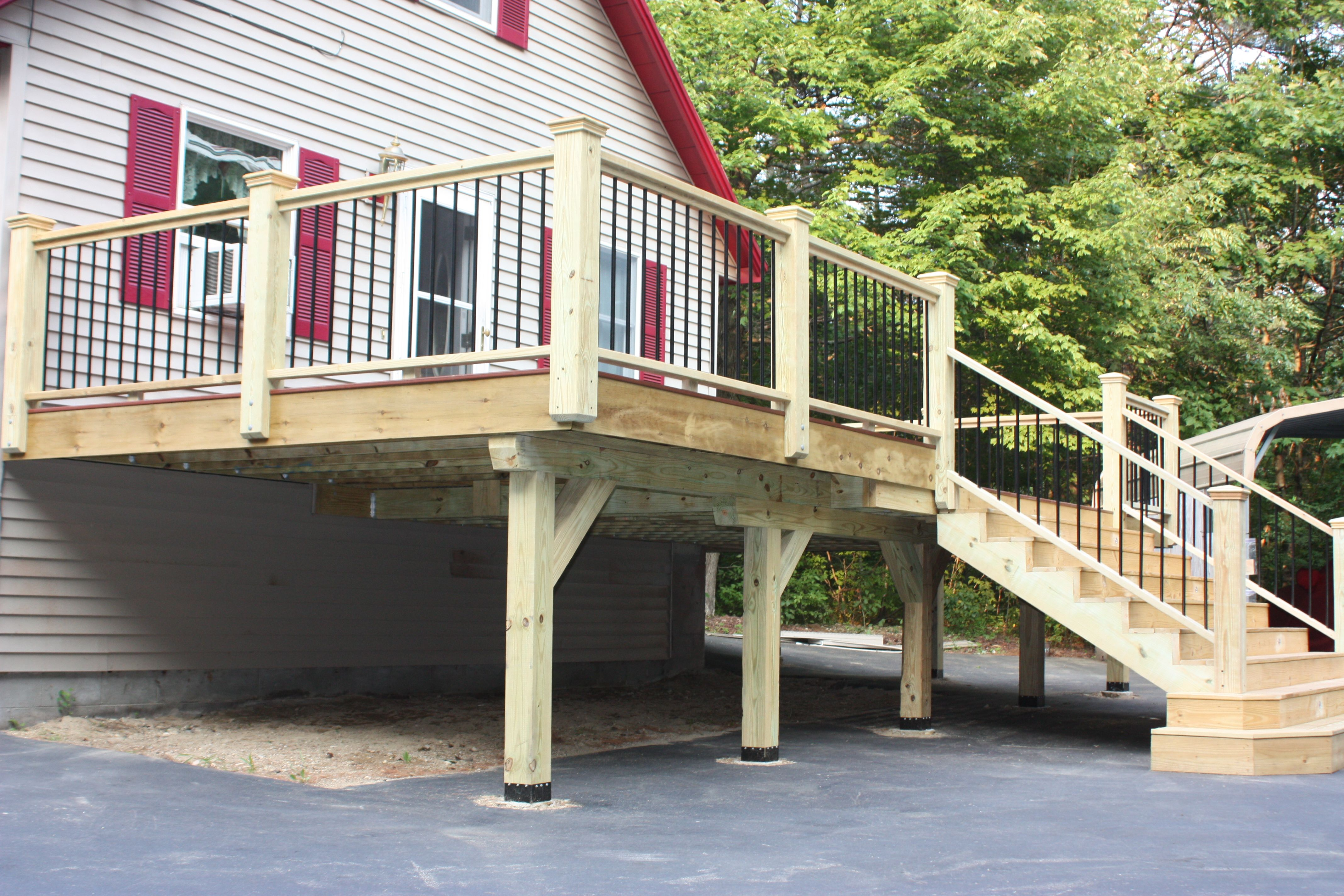 New deck built by ryan kelley with pressure treated wood and new deck built by ryan kelley with pressure treated wood and latitudes capricorn koa composite decking baanklon Image collections