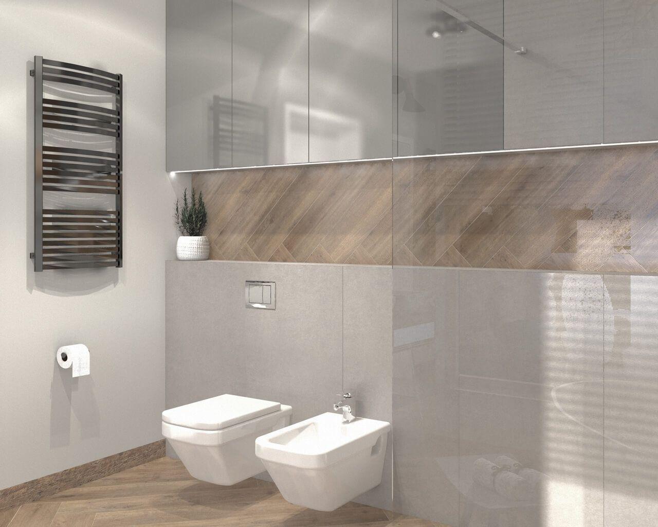 Projekt łazienki W Stylu Nowoczesnej Skandynawii Projekt