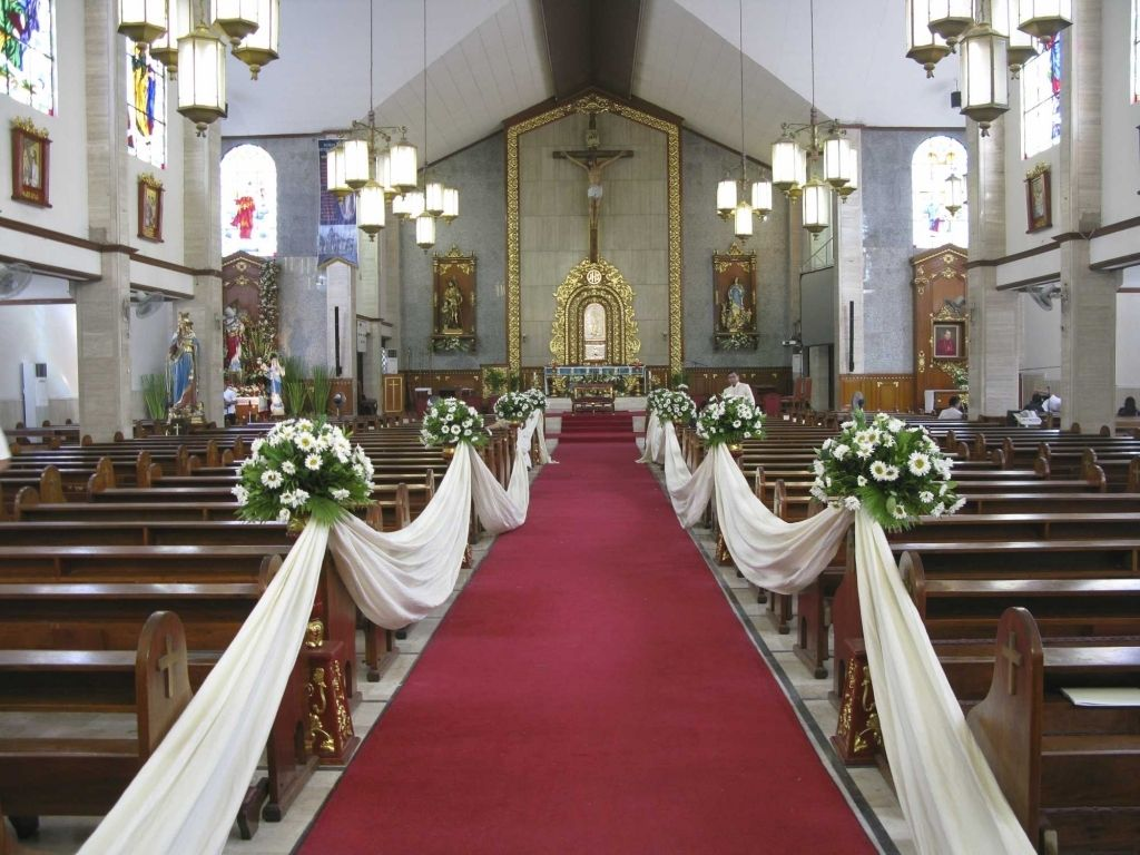 Simple Wedding Church Decorations Church Wedding Decorations
