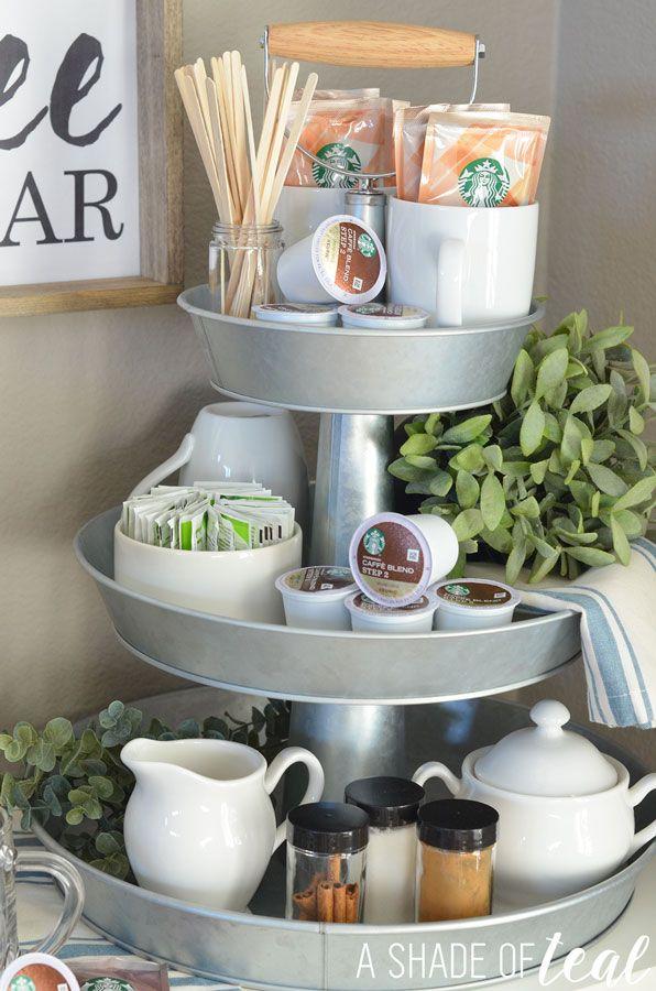 How To Setup A 3 Tier Coffee Bar Plus