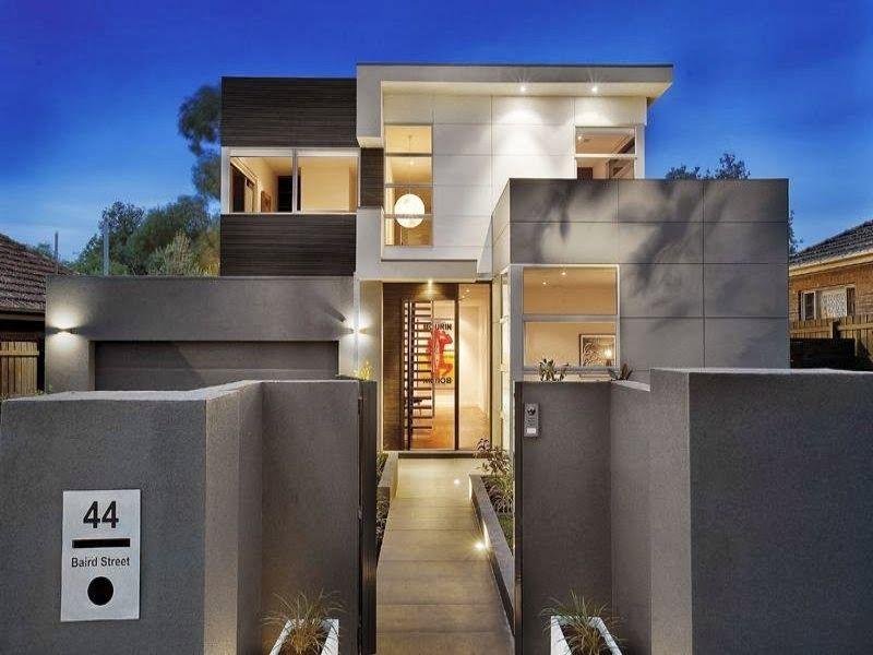 diseo de interiores u fachadas de casas modernas clidas e iluminadas