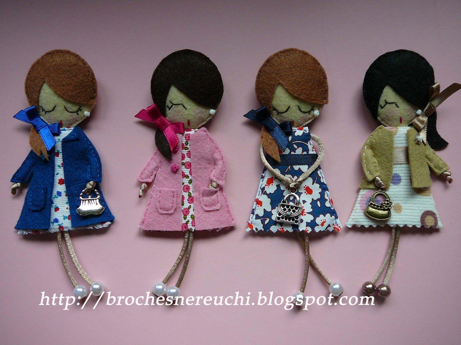 Broches nereuchi caritas felt pinterest broches - Broches para manualidades ...