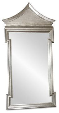 Governors Palace Hollywood Regency Antique Silver Leaf Floor Mirror ...