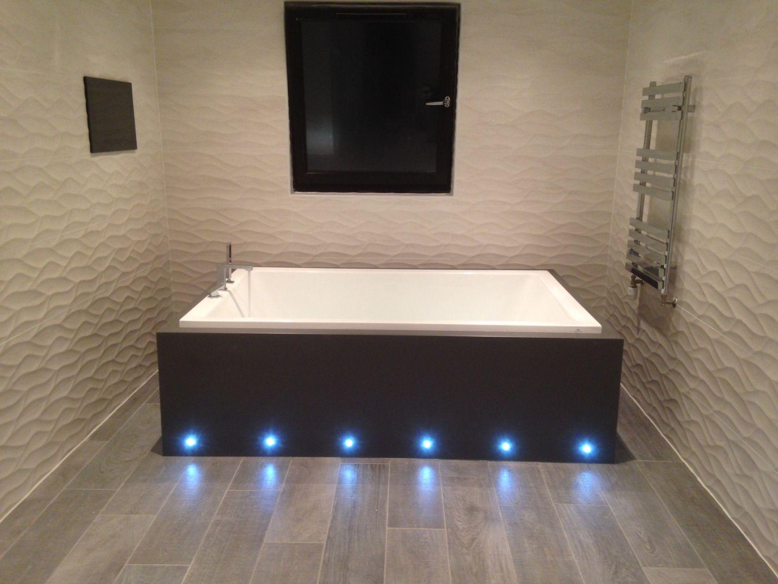 bath with lights - Google Search | Small bathroom ideas | Pinterest ...