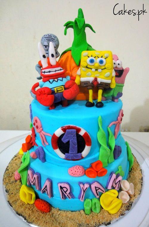 Spongebob Theme Cake Garrett S Birthday Ideas Cake