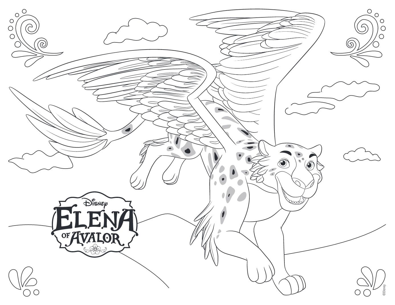 Elena of avalor disney coloring pages miejsca do for Elena of avalor coloring pages