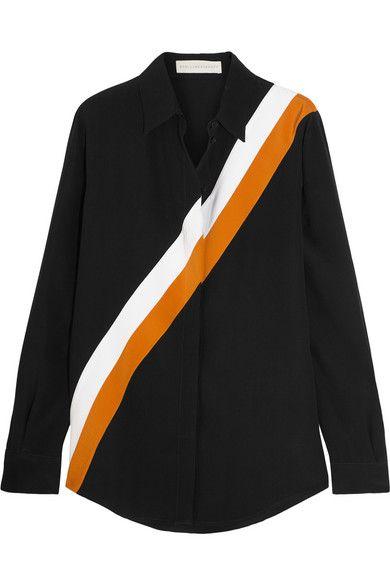 STELLA MCCARTNEY Striped Silk Crepe De Chine Shirt. #stellamccartney #cloth #tops