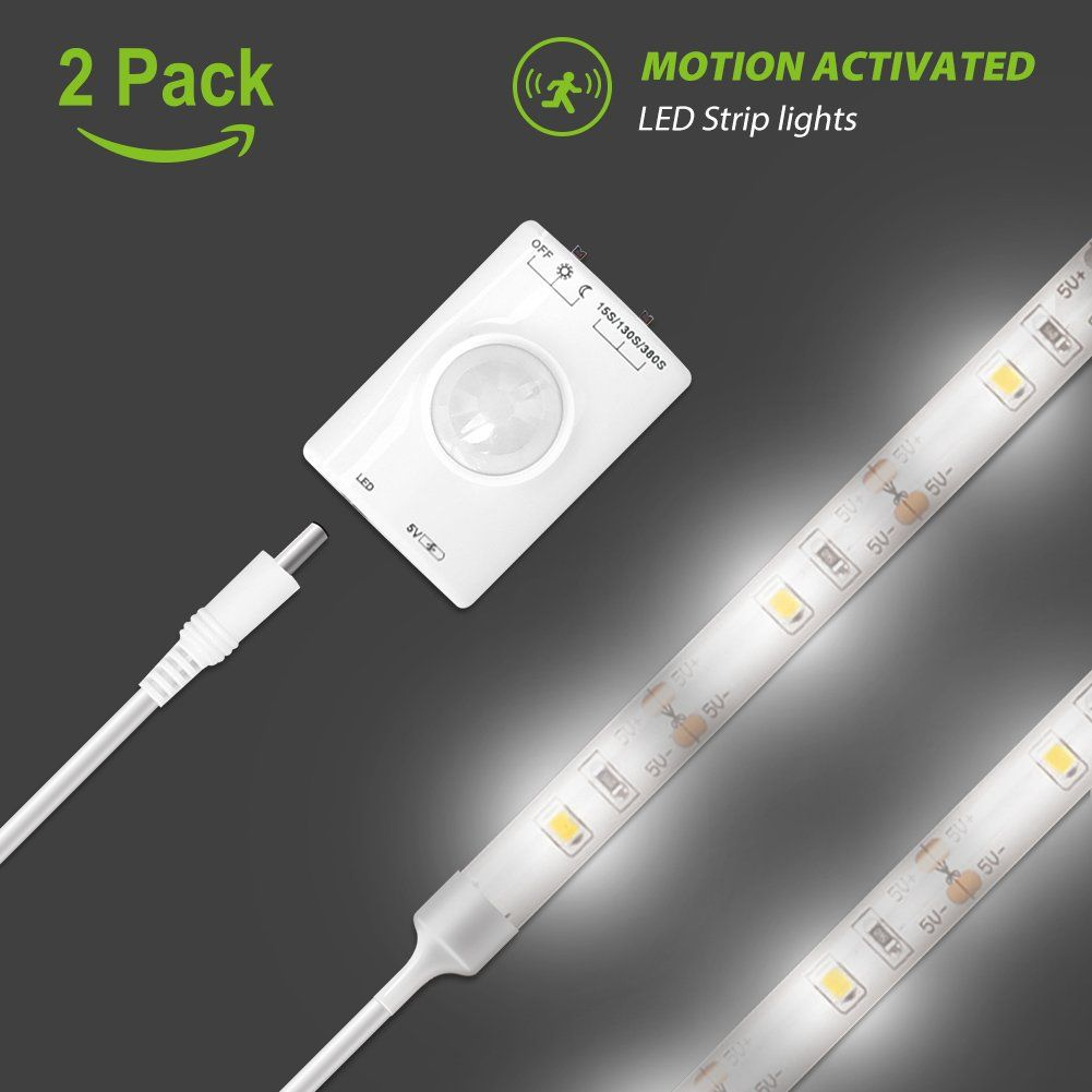 Motion Activated Led Strip Light Megulla Motion Sensor Night Light39in Usb Rechargeable Battery Stick Any Led Strip Lighting Strip Lighting Sensor Night Lights