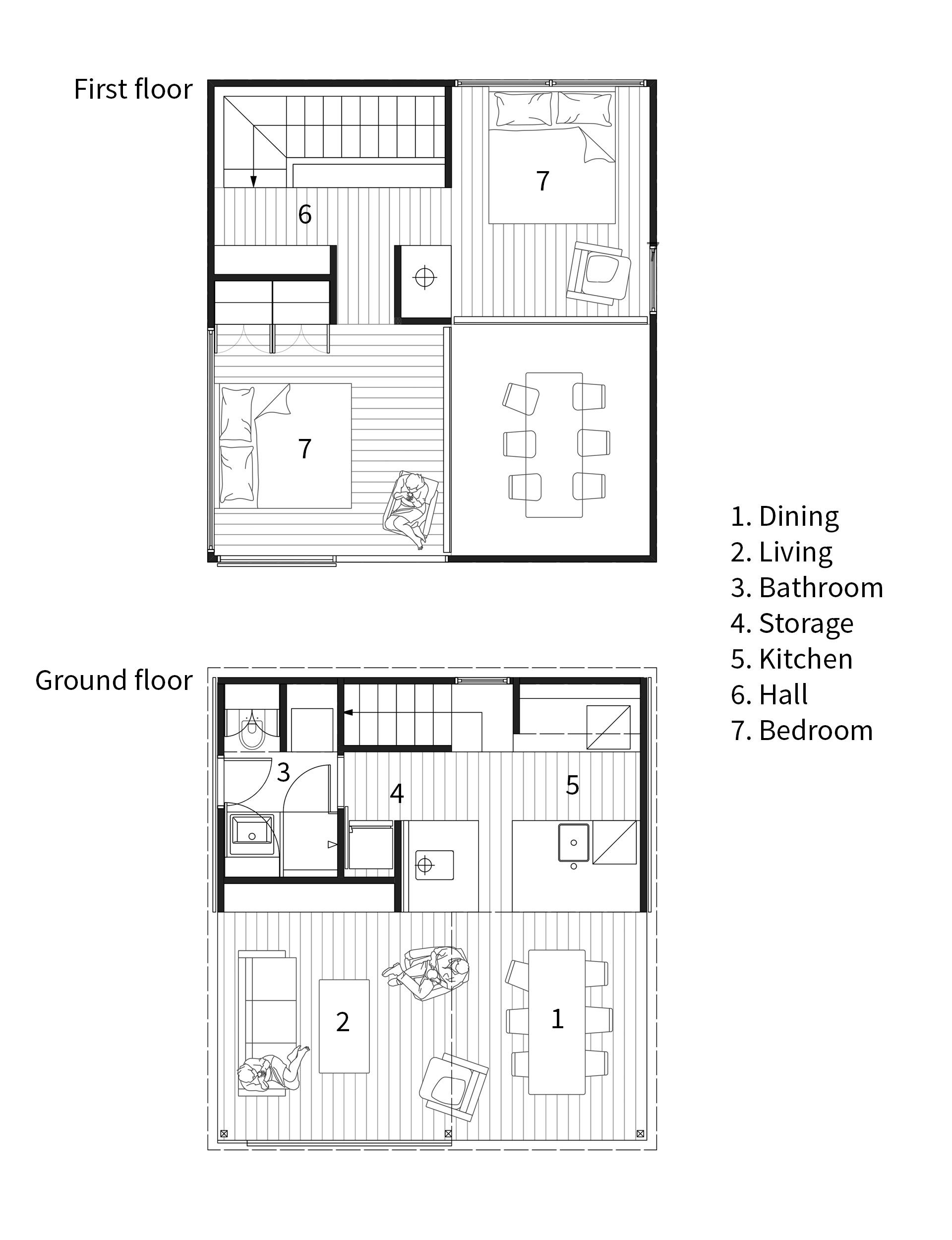 This Tiny 36 Square Metre Home Has The Most Inspiring Design Little House Plans Mini House Plans Small House Design