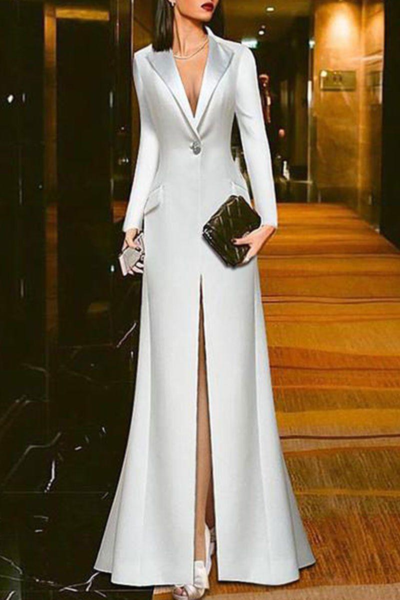 White Suit Evening Maxi Dress Evening Maxi Dress Weddings Evening Maxi Dress Cocktail Parties Evening Maxi Dress Go Chique Jurk Mooie Jurken Lange Avondjurken [ 1200 x 800 Pixel ]