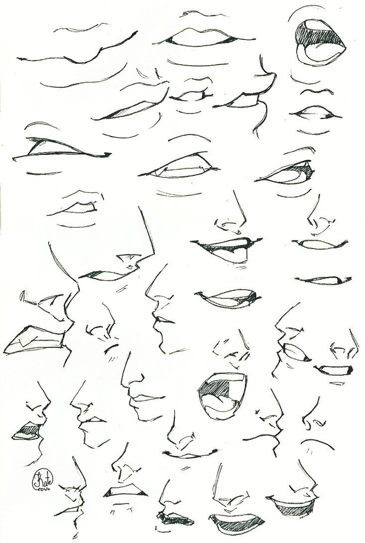 Sketch Mouth And Nose By Katecross On Deviantart Deviantart Drawings Anime Drawings Tutorials Drawing Expressions