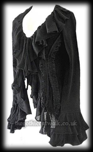 long black frilled cardigan with corset back  fashion