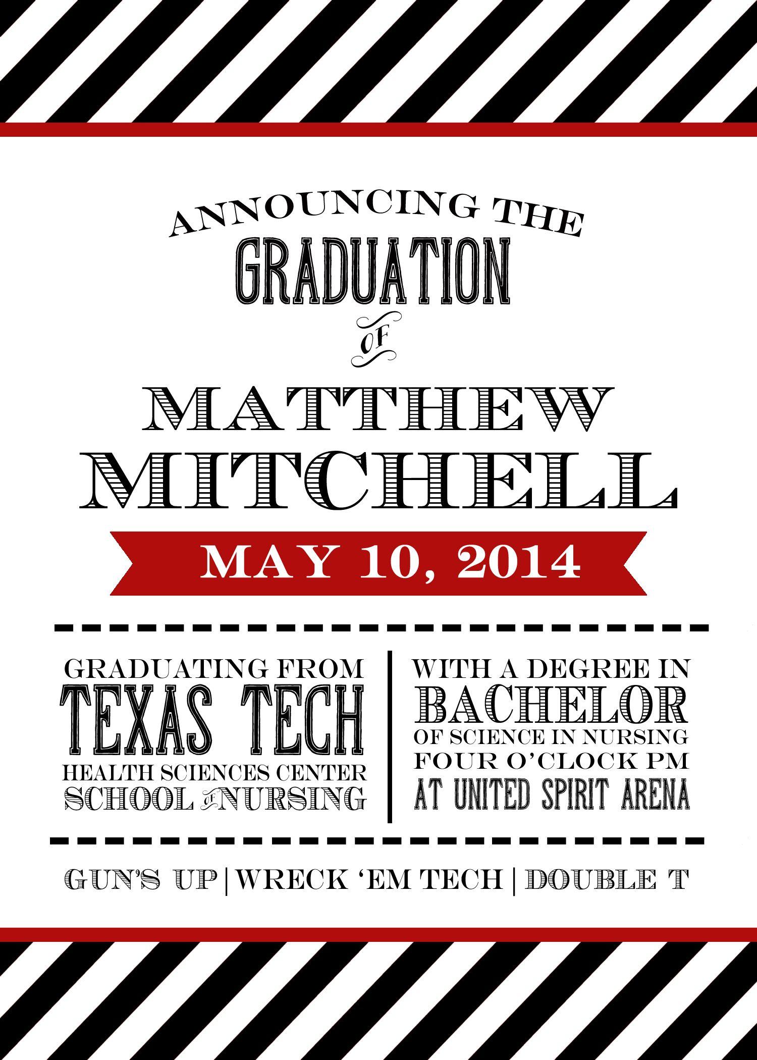 Texas tech graduation announcement graduation announcements texas tech graduation announcement filmwisefo